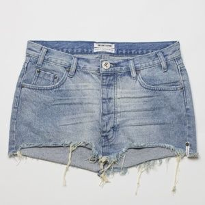 One Teaspoon Junkyard Relaxed Denim Mini Skirt